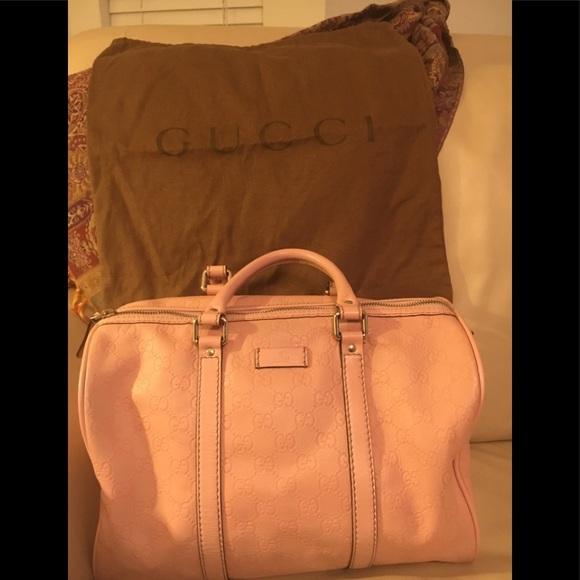 5ed9e3b89e88 Gucci Handbags - GUCCI 193603 JOY BOSTON BAG - Pink/Blush Leather